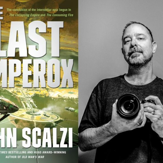 """The Last Emperox"" and author John Scalzi."