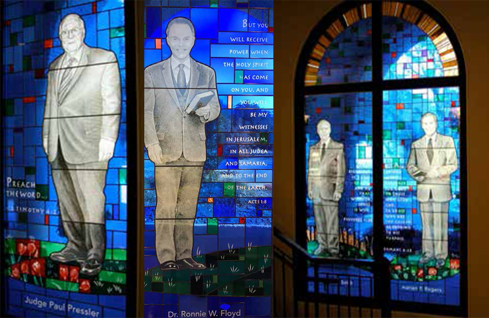 Pressler, Floyd, Smith, and Rogers stained glass