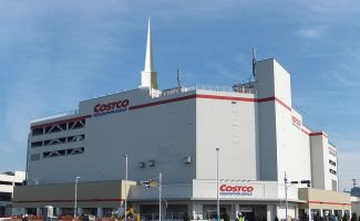 Costco with a steeple