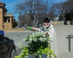 priest with squirt gun