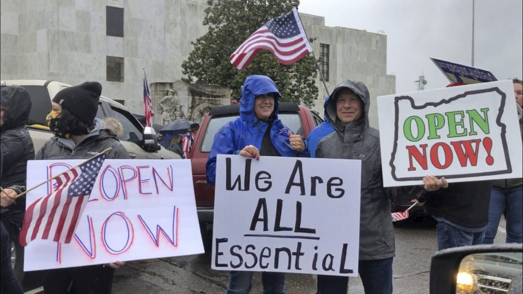 Oregon protestors