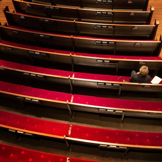 Lone woman in pews