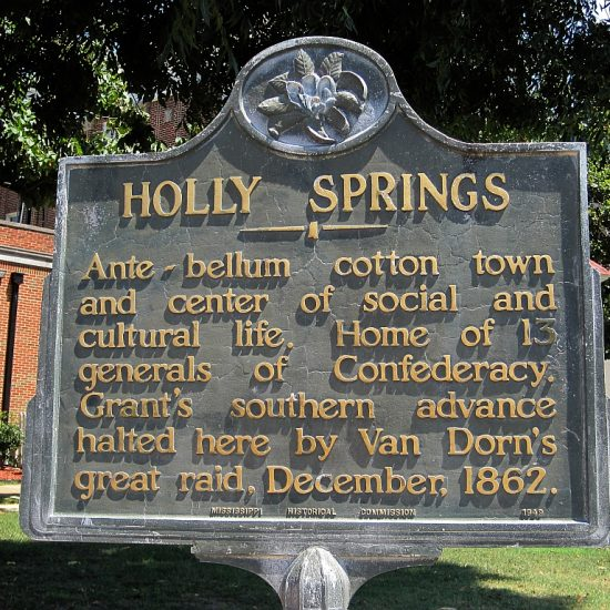 Holly Springs sign