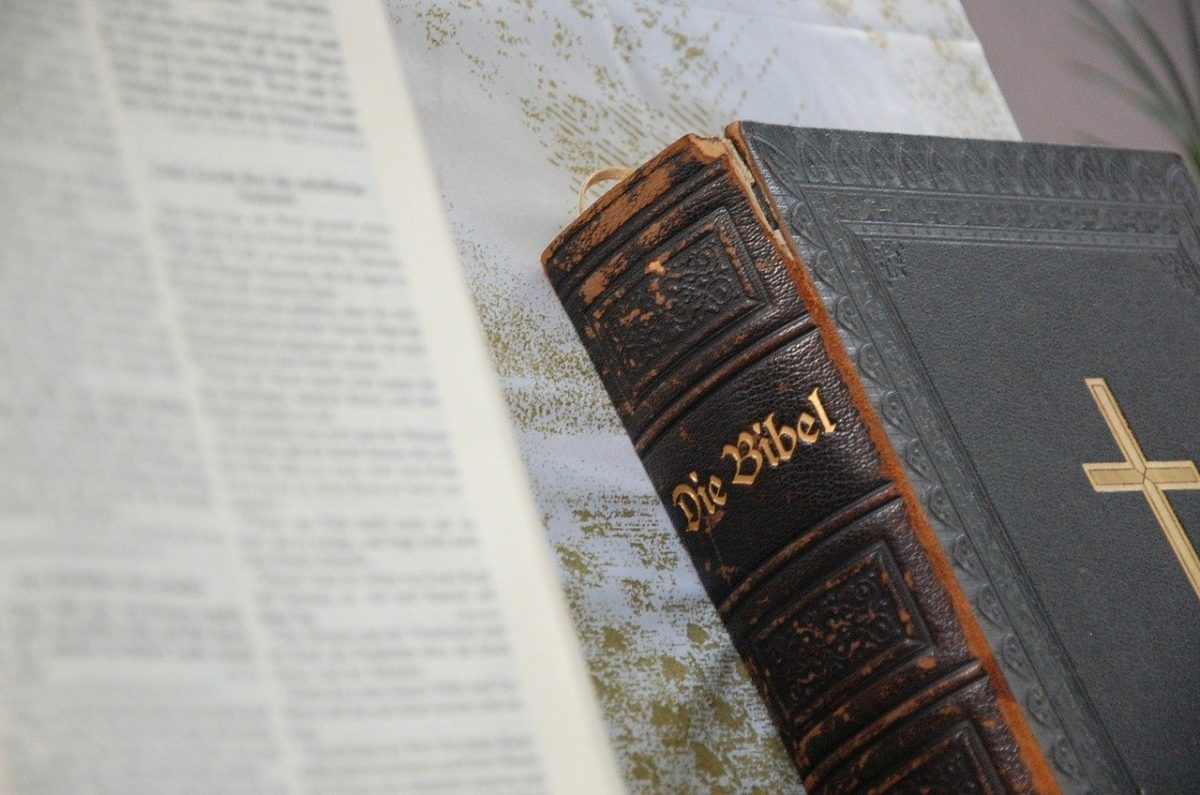 German Bible and book