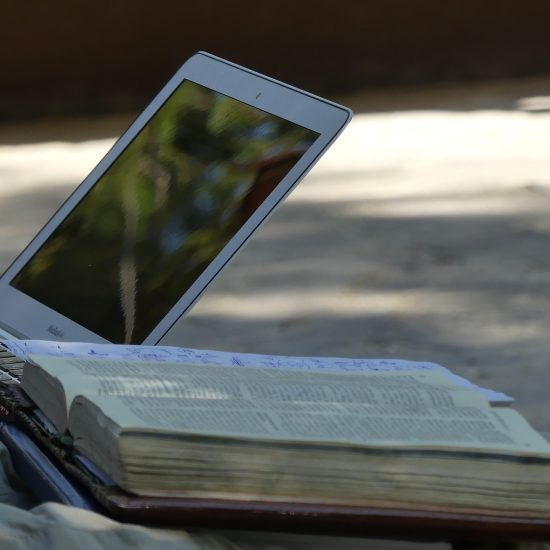 Bible and computer