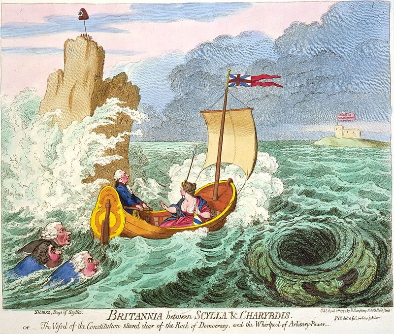 Britannia between Scylla and Charybdis