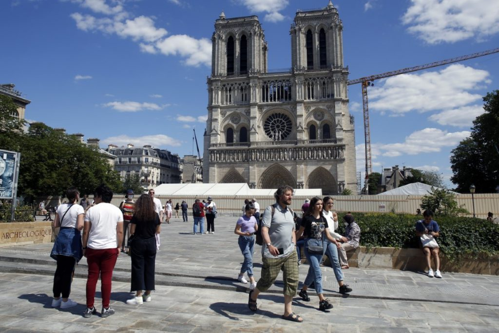 forecourt of Notre Dame's Cathedral
