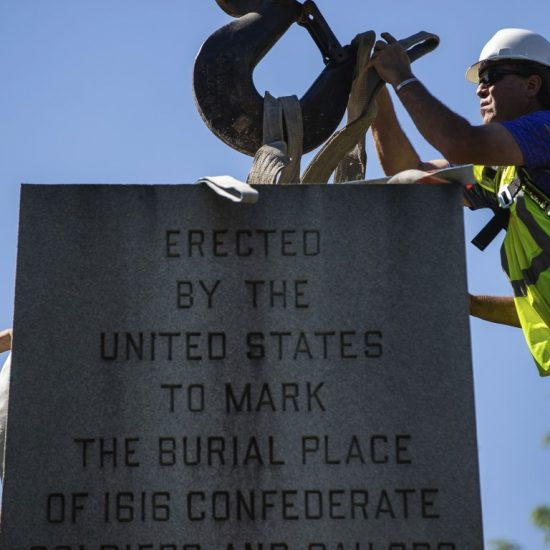 Confederte monument dismantled